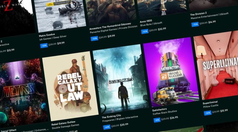 Liste des jeux gratuits Epic Games Store| Web Geek